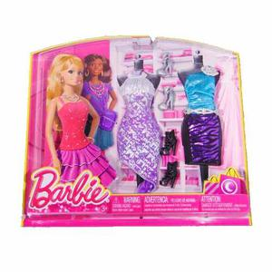 Set De Vestidos Y Accesorios Barbie Life Fashion Mattel