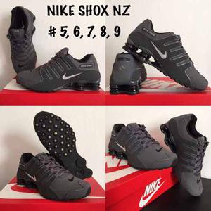 Tenis Nike Shox Nz Gris #5 Mx Envió Gratis Dhl Original