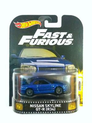 Hot Wheels Retro Nissan Skyline Gt-r Rapido Y Furioso