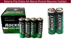 Bateria Pila Doble Aa Y Triple Aaa Marca Rocket Mayoreo