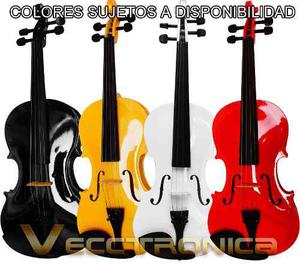 Violin 4/4 En Diferentes Colores Con Padrisimos Regalos.