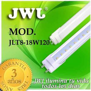 Jwj Tubo De Led T8 1 Línea Blanco Mate 18w Luz Blanca
