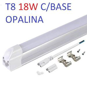 Lampara Led T8 Mica Opalina C/base Aluminio 18w 1.20cm k