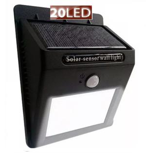 Lámpara Solar 20 Led, Con Sensor De Movimiento Automatica