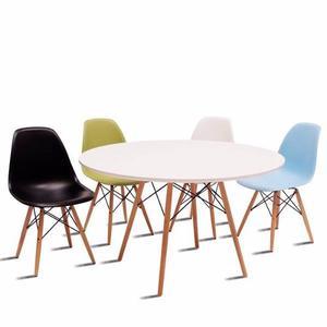 Mesa Eames 120cm Con 4 Sillas - Buen Fin!! By Arei Design!!