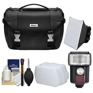 Nikon Deluxe Digital Slr Camera Case Bag With Led Video Ligh