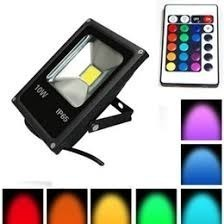 Reflector Led 10w Rgb 16 Colores Diferentes Multicolor Ip66
