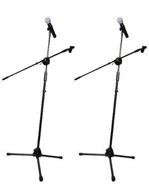 2 Piezas Pedestal Tripie Para Microfono Con Boom Sube Y Baja