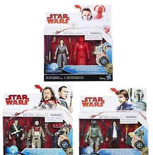 Hasbro Star Wars 3 Packs Force Link Rey, Han Solo Y Chirrut