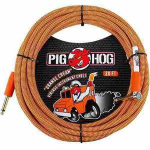 Pig Hog Pch20ccr Cable Para Guitarra O Bajo 6 Metros Angular
