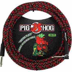 Pig Hog Pch20plr Cable Para Guitarra O Bajo 6 Metros Angular