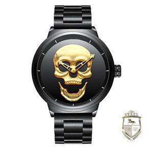 Reloj Calavera Steel Mexico Mad Skull Craneo Acero Inoxidabl