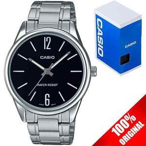 Reloj Casio Caballero Mtpv005 Negro Acero - Cristal Mineral