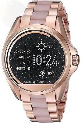 Reloj Michael Kors Smartwatch Oro Rosa Con Acrilico
