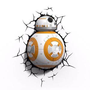 Star Wars Lámpara De Pared 3d Bb-8 Droide Nuevo Importado