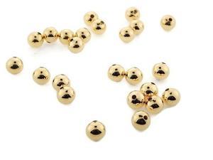 Bola Lisa Oro Laminado Gold 18k 3mm Bisuteria 10gr