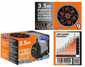 Bomba De Agua Sumergible Acuarios Fuentes 3.50 M