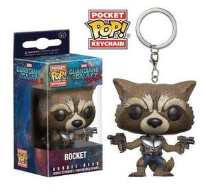 Llavero Funko Pop Rocket Marvel Bobble Head Oferta