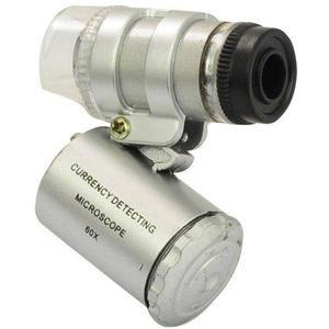 Mini Lupa Microscopio De Bolsillo 60x Luz Led Y Uv + Envio