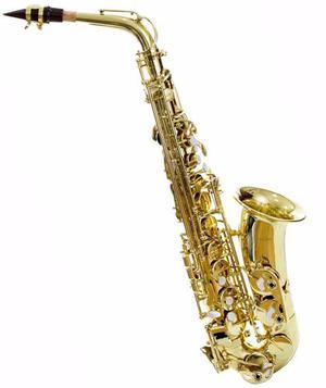 Saxofon Alto Silvertone En Eb Laqueado Modelo Slsx009 Envío