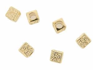 Separadores En Chapa De Oro 14k Para Pulseras Bisuteria 6pzs