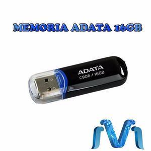 Memoria Adata 16gb Usb 2.0 C906 Negro Azul Almacenamiento