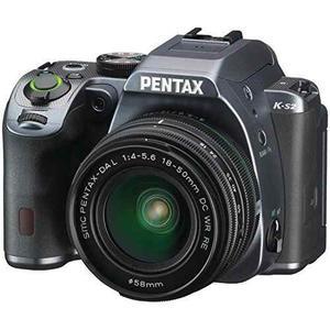Pentax K-s2 20mp Weatherized Slr With Lens Kit, Gray