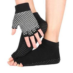 Jiexing Yoga Pilates Barre Calcetines Y Guantes Conjunto No