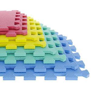 Tapete Multicolor De Espuma Eva De 8 Piezas Para Ejercicio