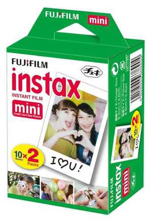 Fuji Película Instax Twin Pack 20 Placas *mini 8, 9*