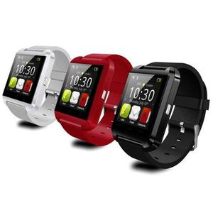 Reloj Inteligente Smartwatch U8 Color Blanco Rojo