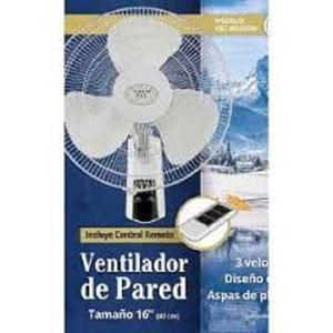 Ventilador De Pared 16 Blanco Con Control/remoto Vec Ww