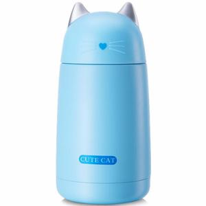 Termo Taza En Forma De Gato Gatito Color Azul H