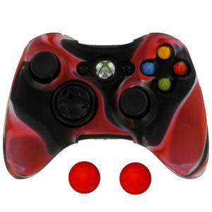 2 Fundas Protectora De Silicon + Gomas Para Control Xbox 360