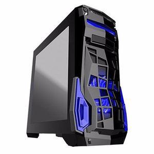 Gabinete Gamer Eagle Warrior Challenger S/fuente Negro/azul