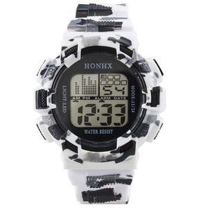 Lote 10 Reloj Digital Honhx Fecha Cronometro Luz Alarma