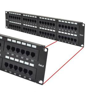 Patch Panel 48 Puertos Utp Cat 6 Con Barra De Soporte