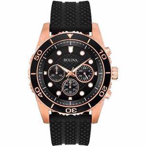 Reloj Bulova Rosado 98a192 *watchsalas* Caballero Caucho