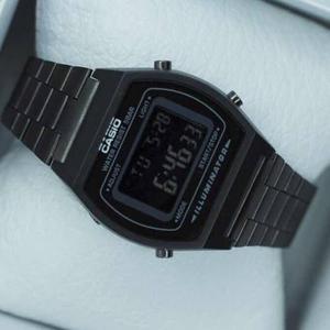 Reloj Casio Negro Mate B640 Retro Clásico Black Envío