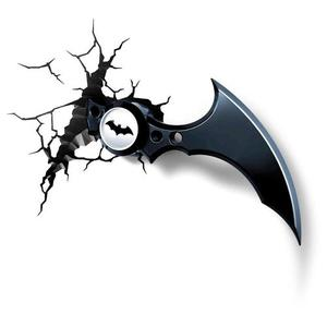 Batman Lámpara De Pared 3d Batarang Envio Gratis