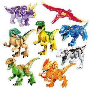 Excelente Set 8 Dinosaurios De Colores Armables Para Lego