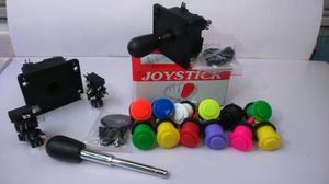 Kit Arcade (2 Palancas Joystick Y 12 Botones Nacionales)