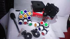 Kit Arcade (2 Palancas Joystick Y 14 Botones Cristal)