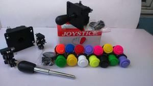 Kit Arcade (2 Palancas Joystick Y 14 Botones Nacionales)