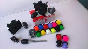 Kit Arcade (2 Palancas Joystick Y 16 Botones Nacionales)