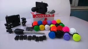 Kit Arcade (2 Palancas Y 18 Botones Arcade) Envio Gratis