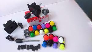 Kit Arcade: 2 Palancas Y 20 Botones Con Micros Envio Gratis