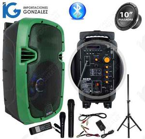 Bocina Amplificada 10 Portatil Recargable Bluetooth Tripie