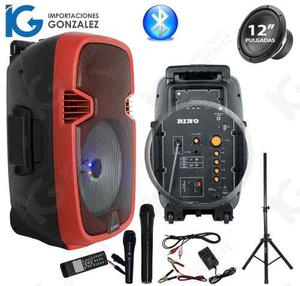 Bocina Amplificada 12 Portatil Recargable Bluetooth Tripie