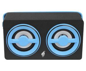 Bocina Recargable Bluetooth 2x3plg Green Leaf Usb Micro Sd
